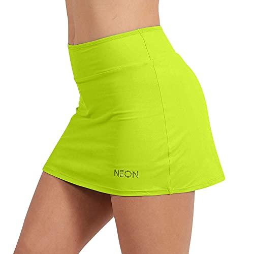 NEON STYLE - Falda Pantalón Deportiva | Falda de Pádel y Tenis elástica para Mujer | Skort para Fitness de Lycra | Lidia