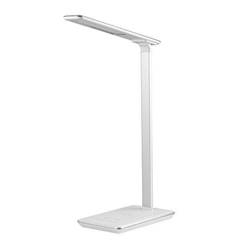 Tsing lámpara de escritorio LED con Touch Control, Qi inalámbrico función de carga, 4modos de iluminación, Dimmable cuadro de cuidados ophtalmologiques lámparas