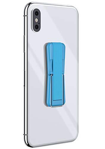 ONEFLOW® ClipGrip - Handy Fingerhalterung mit Ständer für alle Vernee Handys | Handyständer Ring Finger Halter Handyring Selbstklebend, Hell-Blau