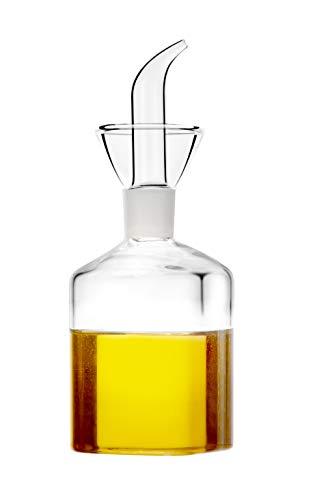 HAIZEEN 【150ml Distributore di Olio d'Oliva e Aceto con Beccuccio Antigoccia Versatore di Olio Bottiglie Contagocce per Barbecue da Cucina e Distributore di Sapone per Bagno