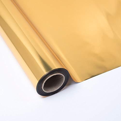 PAKOT Rotolo Polipropilene Metallizzato, Oro, 70 cm x 50 m