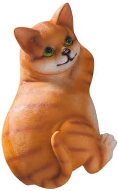 Quan Han Resin Animals Tissue Paper Holder cat Statue Kitchen Paper Holder Bath Tissue Dog Shape Holder Bathroom Toilet Paper Holder (cat)