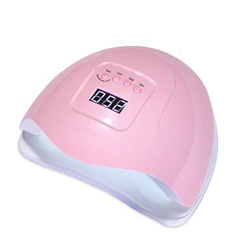 Lámpara de Uñas UV LED 80 W Curado de Esmalte de Gel Secador de Uñas Rápido con Función de Temporización con 4 Temporizadores 10S / 30S / 60S / 99S,Rosado