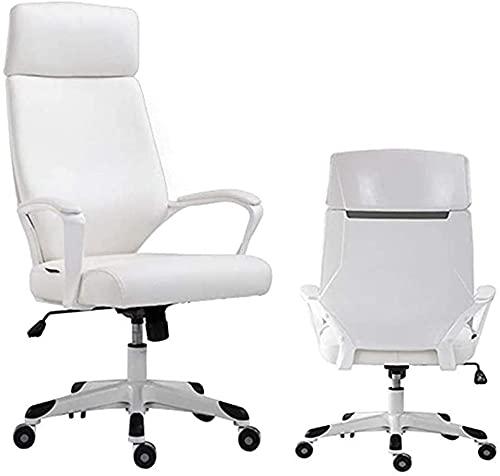Silla de oficina Silla giratoria Silla de escritorio alto espalda PU Silla de cuero, silla giratoria de...