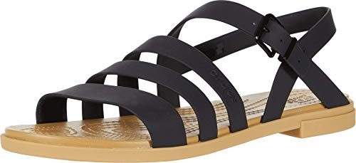 Crocs Tulum Sandal Black/Tan 5