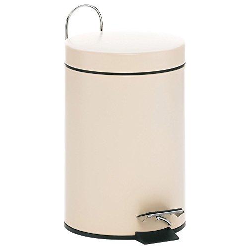 kela Kosmetikeimer Sable 3L aus Metall in beige, 17 x 17 x 26 cm