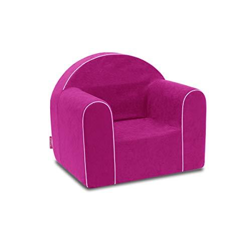 Mini sillón infantil para bebé, silla para bebé, sofá infantil, silla de espuma respetuosa con el medio ambiente rosa rosa