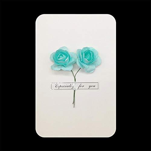 ERFHJ 1 stuk geschenkdoos decoratie gedroogde bloem kaart uitnodiging ansichtkaart uitnodiging ansichtkaart bruiloft partij vakantie groet