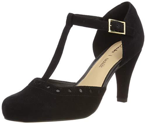 Clarks Zapatos de Tacón para Mujer, Negro