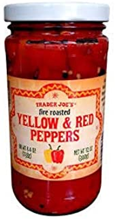 Trader Joe's Fire Roasted Yellow & Red Peppers 12 oz (Pack of 3)