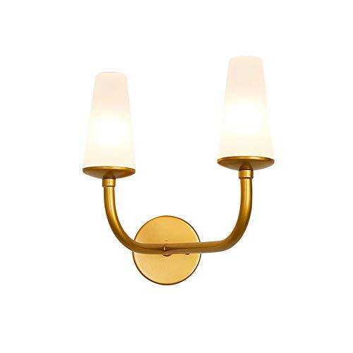 Lampada da Parete a LED Moderne Lampada da parete a due teste moderna geometria minimalista colonna vertebrale lampada da parete lampada da comodino nordico lunghezza 30 cm * larghezza 25 cm