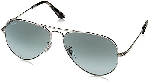 Ray-Ban 0RB3689 Gafas de Sol, Silver, 58 Unisex