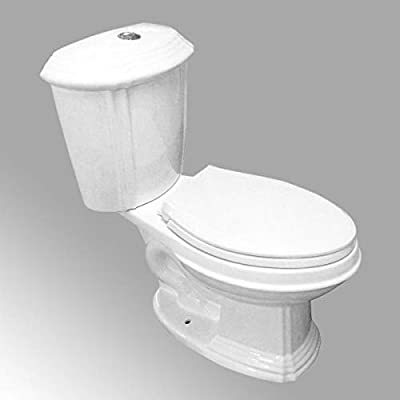Sheffield 2-Piece 0.8 GPF/1.6 GPF WaterSense Dual Flush Elongated Bathroom Toilet In White With Slow Close Seat Renovators Supply Manufacturing