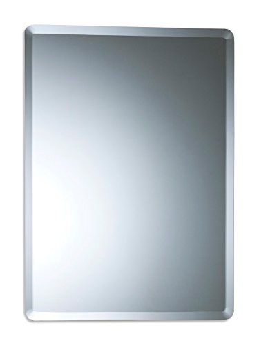 Neue Design Bathroom Wall Mounted Mirror, 60cm x 45cm Rectangular, Simple Elegant Design, Frameless with Contemporary Bevel Edges,
