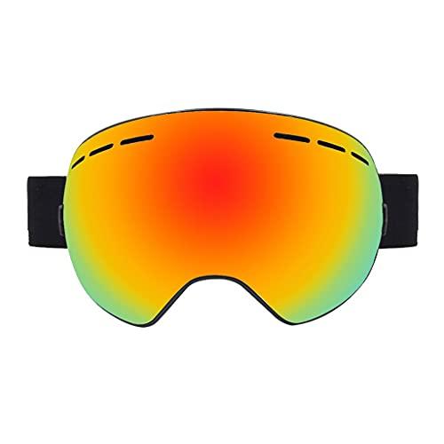Kiter Gafas de esquí antivaho para snowboard, protección UV, protección contra los rayos UV, gafas de esquí para hombres y mujeres, gafas de snowboard (color naranja)