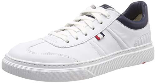 LLOYD Herren Agostino Sneaker, Weiß (White/Midnight Blue 2), 43 EU