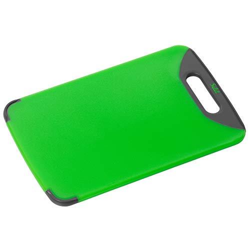 Silit Schneidebrett 32 x 20 cm, rechteckig, Kunststoff, praktischer Griff, spülmaschinengeeignet, klingenschonend, grün