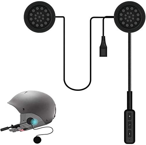 OBEST Casco Moto Auricolare Bluetooth 5.0, Cuffie per casco da moto per viva voce senza fili, Altoparlanti musicali, Controllo chiamate microfono, Cuffie anti-interferenza