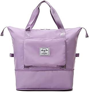 Travel Duffel Bags, Waterproof Sports Fitness Bag Adjustable Gym Yoga Bag Large Capacity Travel Handbag for Women 2021 Wee...
