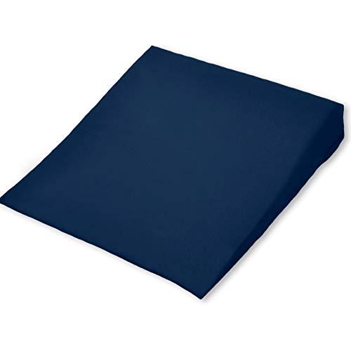 HERBALIND Orthopädisches Premium Keilkissen bequemes Sitzkissen - Sitzkeilkissen zur Entlastung von Rücken und Bandscheibe im Büro, Auto oder Zuhause, mit waschbarem Bezug, 37x37x7/1 cm