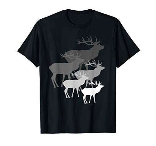 wilde Hirsche, Rotwild, Damwild, Hirsch, Rehbock, Geweih, T-Shirt
