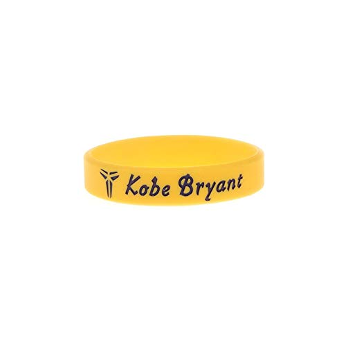Xlin Mamba Lakers 24 Anniversary Edition Signature Edition Bryant NBA Sport da Ring Braccialetto Mano Gli Appassionati di Basket in Silicone (Color : Yellow)