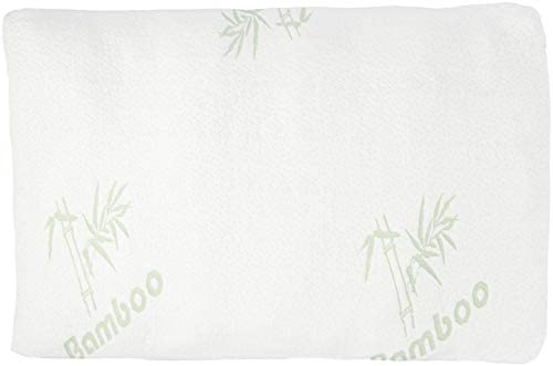 Relax Home Life Firm Bamboo Pillow with Shredded Memory Foam and Cool Removable Cover 2Pk Queen product image