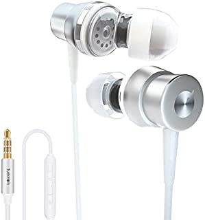 Tuddrom H2 in-Ear Hi-Res Extra Bass Wired Earphone,Noise Cancelling Headphone Earbuds with Microphone and Volume Control, 3.5mm Jack, for iPhone 5/6/6S Android Smartphone Laptop Tablet PC White