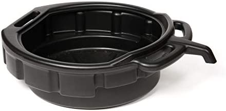 WirthCo 32953 Funnel King Black 4 Gallon Oil/Coolant Drain Pan with E-Z Grip Handles and Pour Spout