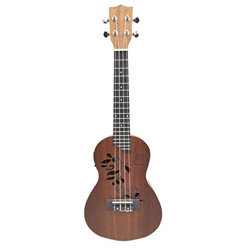 Ukelele Guitarra De Ukelele Electroacústica De Concierto De Ukelele Eléctrico De 24...