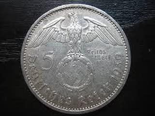 Nazi Germany Silver 5 Reichsmark 1936-1939