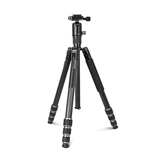 Phinistec 155cm Treppiede Fibra di Carbonio con Monopiede e Testa a Sfera Panoramica a 360 ° per Fotocamera Reflex e Smartphone Carica Max. 12kg
