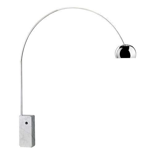 Arco Stehlampe weiß schwerer Marmor