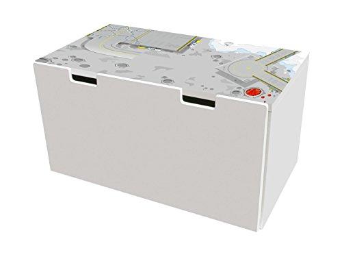 Weltraumstation Möbelfolie | BTD03 | Möbelaufkleber mit Straßen-Motiv | passend für die Kinderzimmer Banktruhe STUVA von IKEA (90 x 50 cm) | Möbel Nicht Inklusive | STIKKIPIX