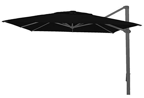 PEGANE Parasol déporté carré Noir Anti-UV 400x400 cm