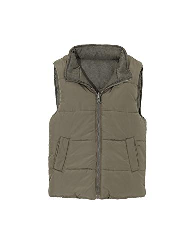 Gocco Chaleco Reversible Abrigo Impermeable, Verde (Kaki Va), 116 (Tamaño del Fabricante:5-6) para Niños