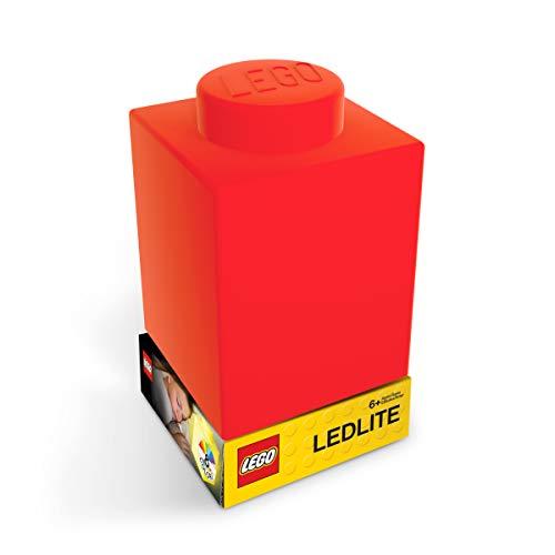 LEGO Classic 1x1 Brick Silicone NiteLite Lampe Nachttischlampe Nachtlicht 8x8x11 (Rot)