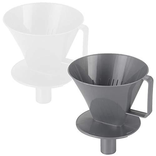 LS-LebenStil 2X Kaffeefilter Nr.4 Set Filterhalter-Aufsatz Handfilter Filter-Halter