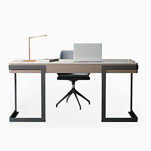 SWTOM Mesa de Escritorio Escritorio para Juegos de Computadora Mesa de Estación de Trabajo Moderna Oficina en Casa, con Marco de Acero al Carbono