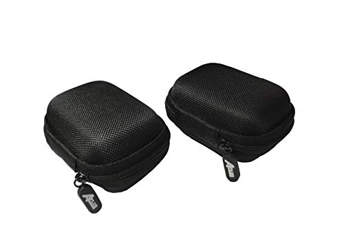 2 Packs of Aplus Universal Zipper Zip Travel Carrying Waterproof EVA Case Storage Bag for 4 x 18650 Batteries (Also Fits Cellphone Charger, Cable, Earphone, USB Flash Drive)