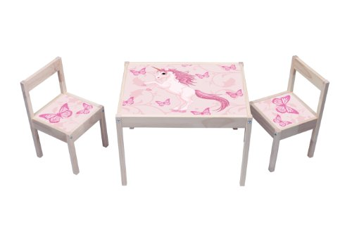 Stikkipix Einhorn Aufkleber - KA01 - (Möbel Nicht inklusive) - Möbelsticker passend für die Kindersitzgruppe LÄTT von IKEA