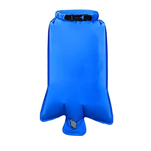 Colchoneta hinchable portátil para camping, colchoneta de aire más ligera, inflable, compacta, impermeable de PVC, para tienda de campaña, senderismo y mochila