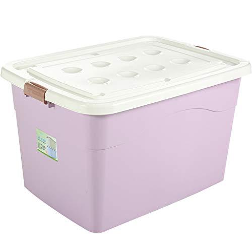 CJX-Storage Box C-J-Xin - Caja de almacenamiento monocromática, con chaqueta de plumón, zapatos, ropa interior, caja de almacenaje, pasillo, guardería, armario, cajas de almacenamiento y baúles, plástico, morado, 70*51*43.5cm