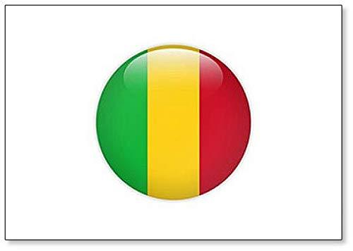 Kühlschrankmagnet, Motiv Mali Flagge auf Knopf, klassisch
