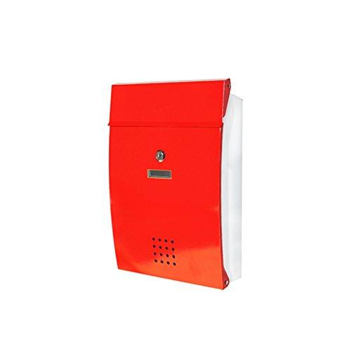LRW Creatieve outdoor regenbox, voor binnen en buiten, waterdichte brievenbus rood