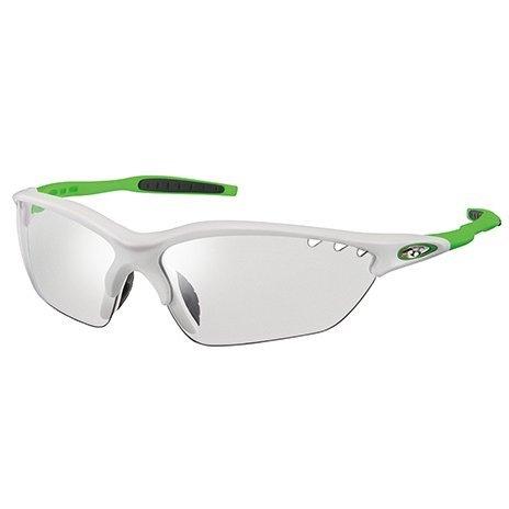 オージーケーカブト(OGK KABUTO) 自転車 スポーツサングラス/アイウエア BINATO-X PHOTOCHROMIC (調光レンズ) マットホワイトグリーン