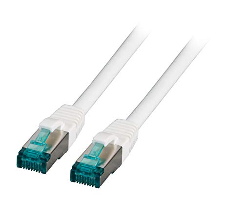 SCENetwork 3,0m 3m CAT.6a CAT6a Patchkabel 10GBit Netzwerk Kabel, weiss weiß, S/FTP, mit vergoldeten Steckern und Kontakten, für für viele Anwendungen wie: Computer, Server, Spielkonsole, Fernseher, TV, Router, DSL, Android Sticks usw.