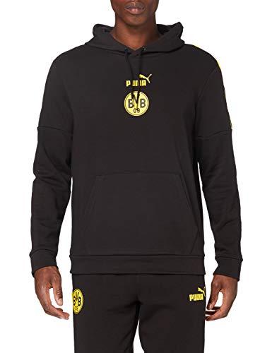 PUMA Herren BVB ftblCulture Hoody Pullover, Black-Cyber Yellow, XL