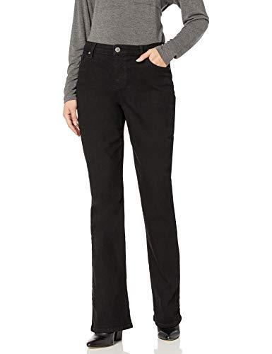 Bandolino Women's Mandie Boot Cut Jean, Saturated Black, 8