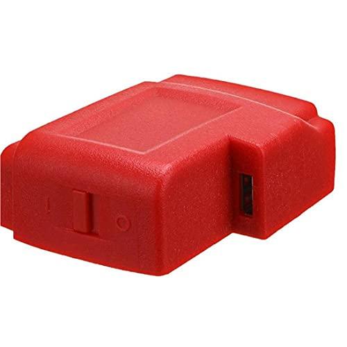 Sanfiyya Cargador USB Adaptador convertidor de Conector para Milwaukee 49-24-2371 M18 radios Cargador Adaptador Herramientas Profesionales